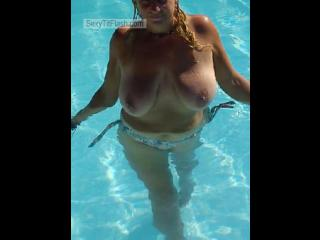 Big Tits Of My Wife Topless Cougar Tit Flash