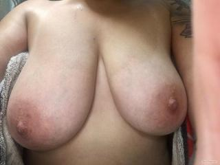 My Big Tits Selfie by Horney