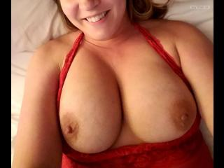 My Big Tits Selfie by Red Lingerie