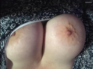 Big Tits Of My Wife Selfie by Sweet Areolas