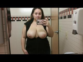 My Extremely big Tits Topless Selfie by Wife