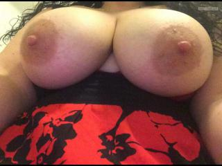 Extremely big Tits Of My Wife Selfie by Br0wn
