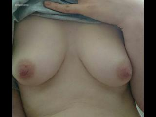 My Medium Tits Topless Selfie by First Timer