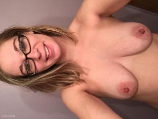 My Medium Tits Topless Selfie by Hot Wife