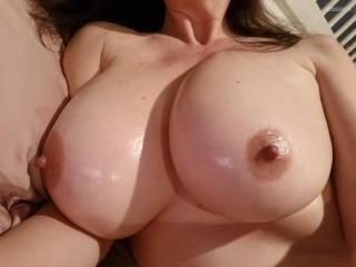 My Very big Tits Topless Selfie by Horny Slut
