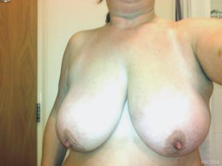 Very big Tits Of My Wife Selfie by SW