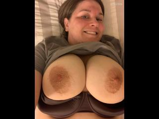 My Very big Tits Topless Selfie by Juggs