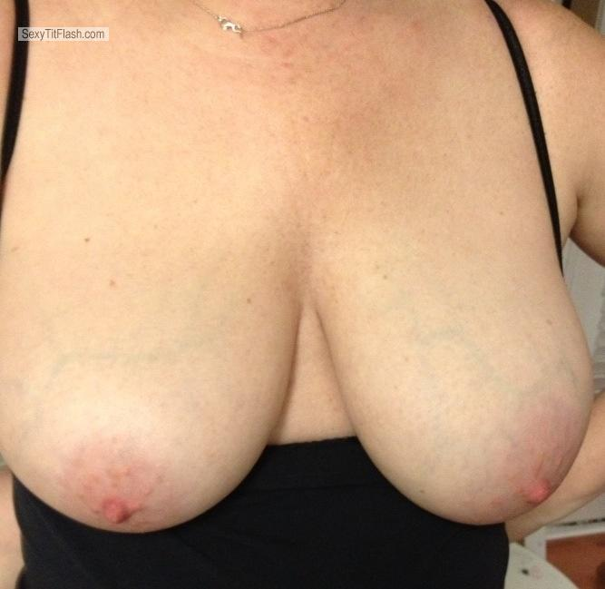 Tit Flash: Big Tits By IPhone - Wife's Tits from United States