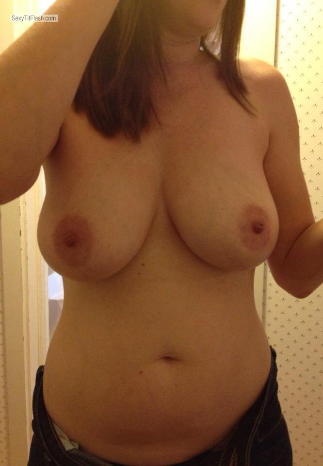 My wifes natural big boobs