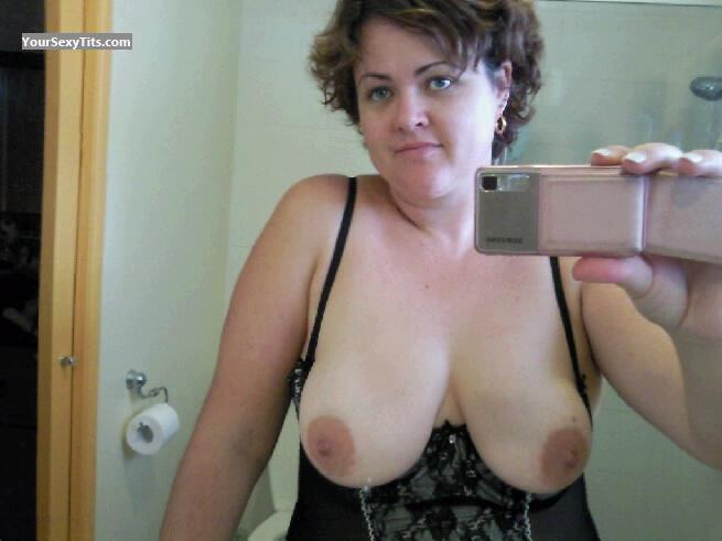 Tit Flash: My Big Tits By IPhone (Selfie) - Topless Luvmydds from Australia