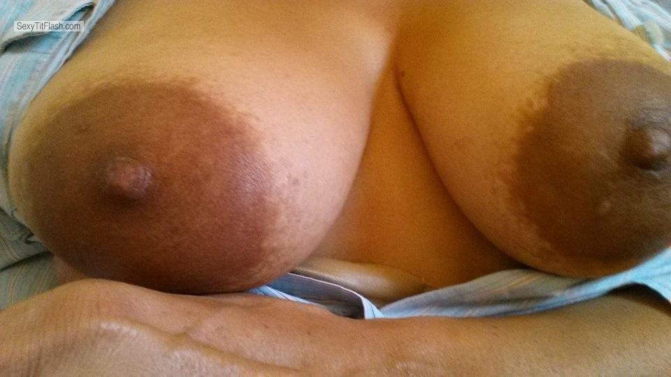 Tit Flash: My Big Tits By IPhone (Selfie) - Mountndewu from United States