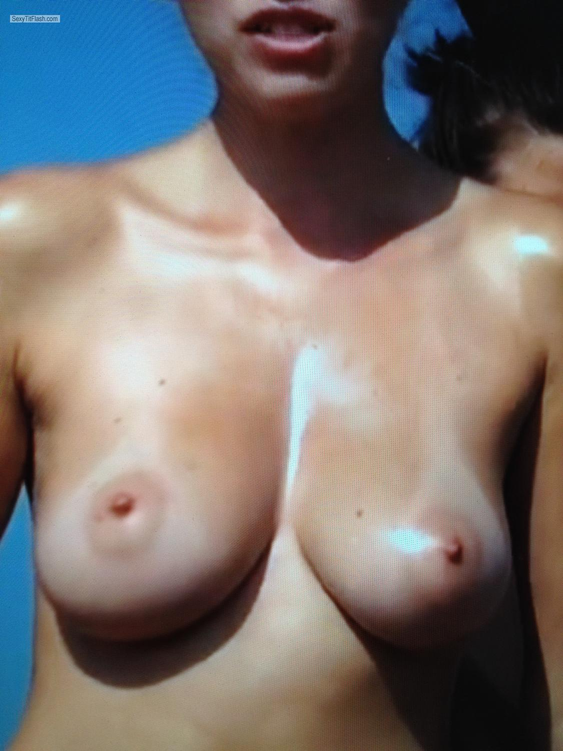Tit Flash: Medium Tits By IPhone - Melissa from United States