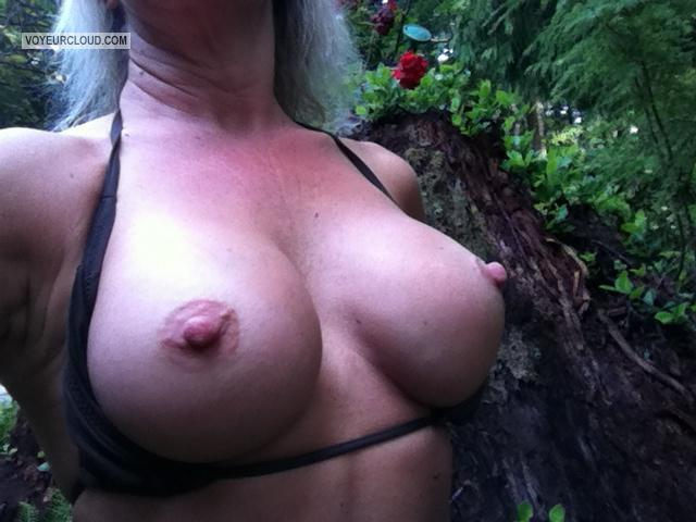 Tit Flash: My Big Tits By IPhone (Selfie) - Sandy from United States