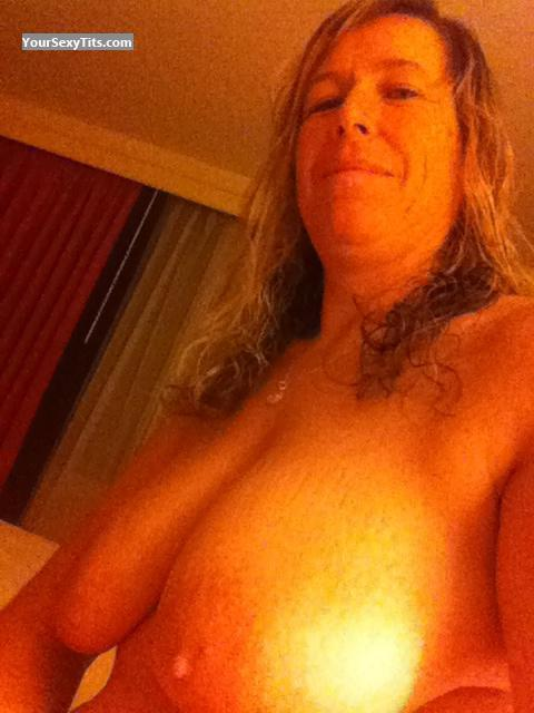 Tit Flash: My Big Tits By IPhone (Selfie) - Topless Kimmee from United States
