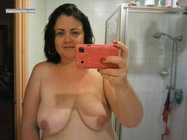 Tit Flash: My Big Tits By IPhone (Selfie) - Topless Luv My DD's from Australia