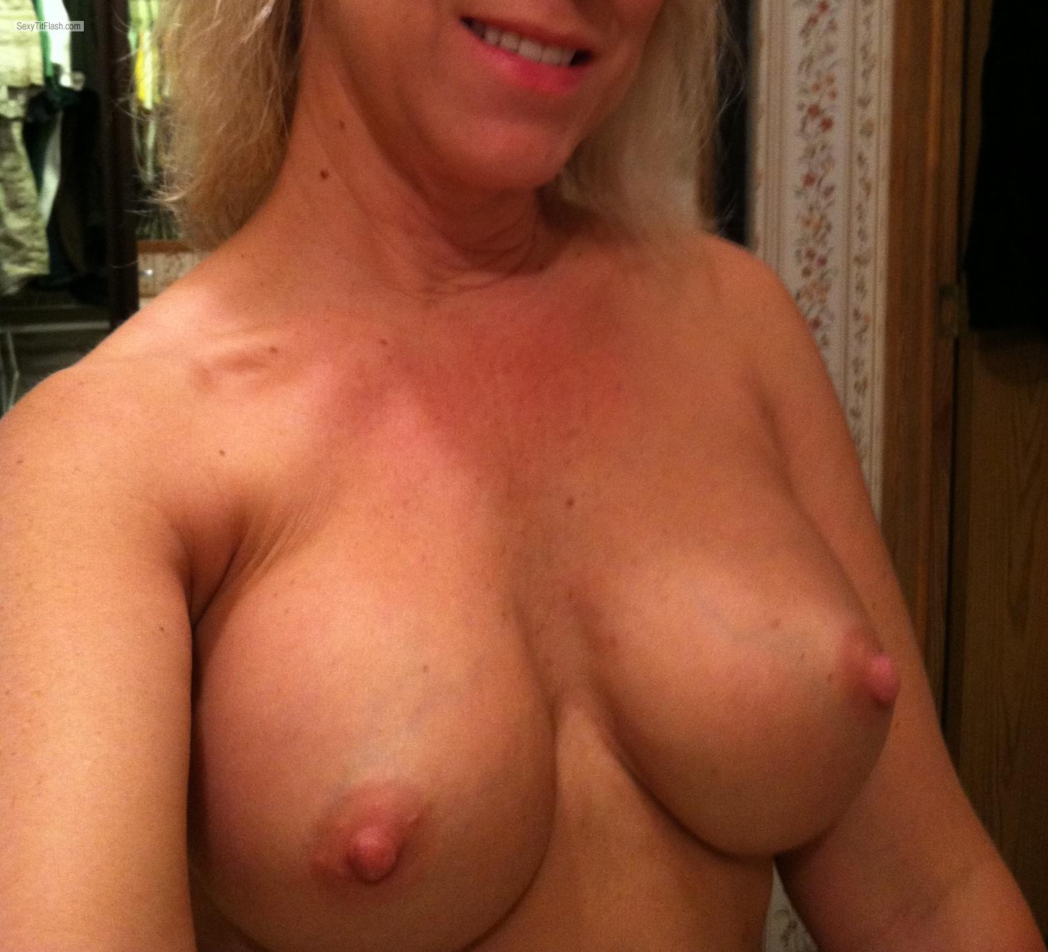 Big tits on phone