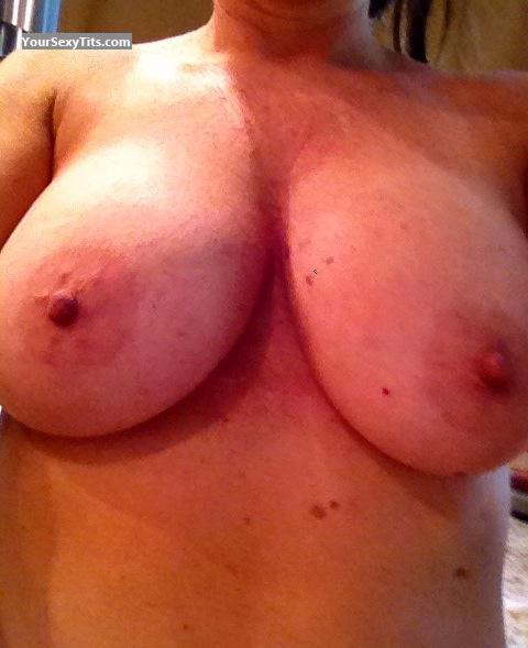 Tit Flash: My Big Tits By IPhone (Selfie) - Sluttlover from United States