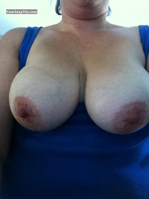 Tit Flash: My Big Tits By IPhone (Selfie) - Glampuss77 from United States
