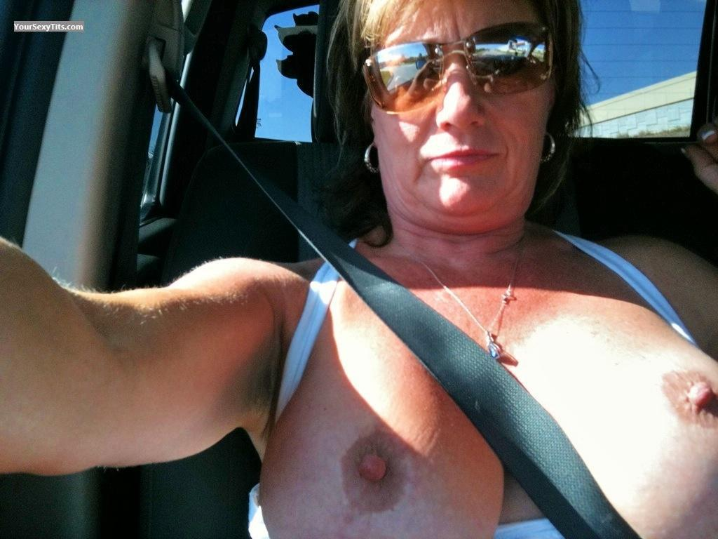 Tit Flash: My Big Tits By IPhone (Selfie) - Topless Hornyluv from United States