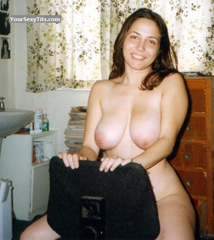 Tit Flash: Big Tits - Topless Alex from United States
