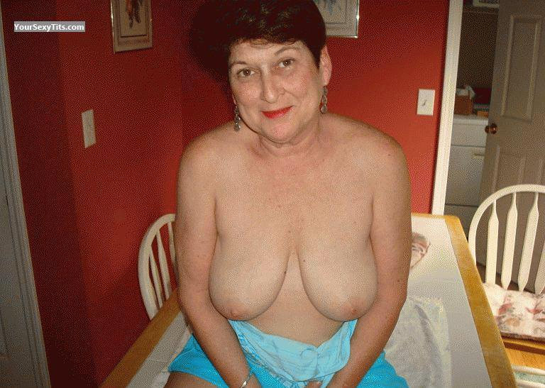 Big Tits Of My Wife Topless Mature Mrs.