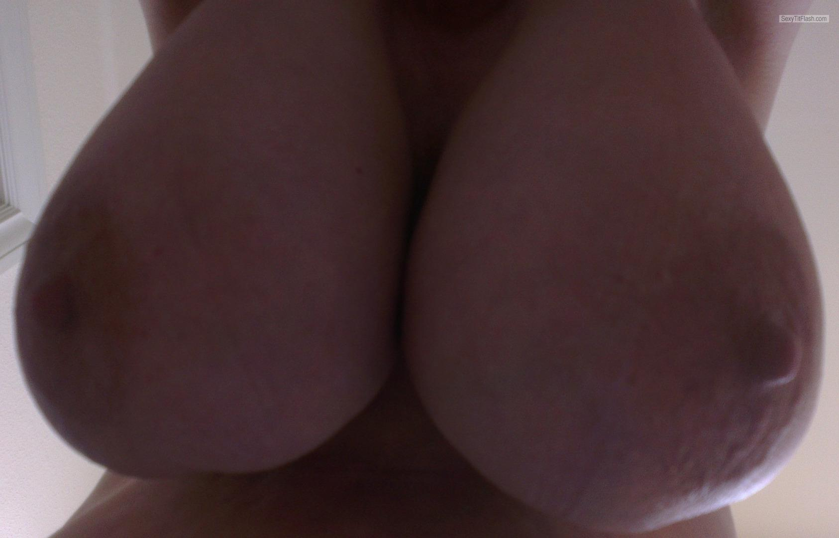 Tit Flash: Girlfriend's Big Tits - Big Boobs Lovers from Denmark