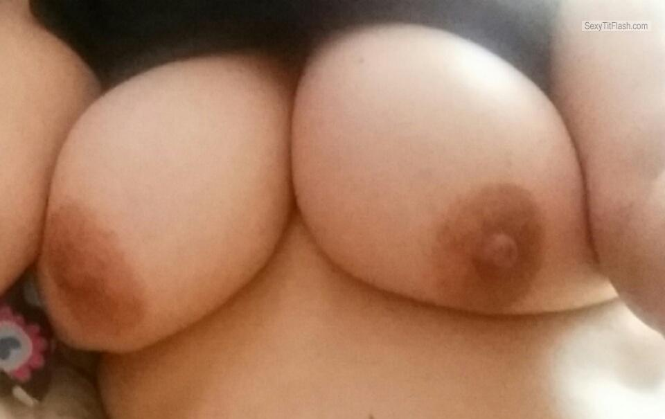 Tit Flash: My Big Tits (Selfie) - Mellons from United Kingdom