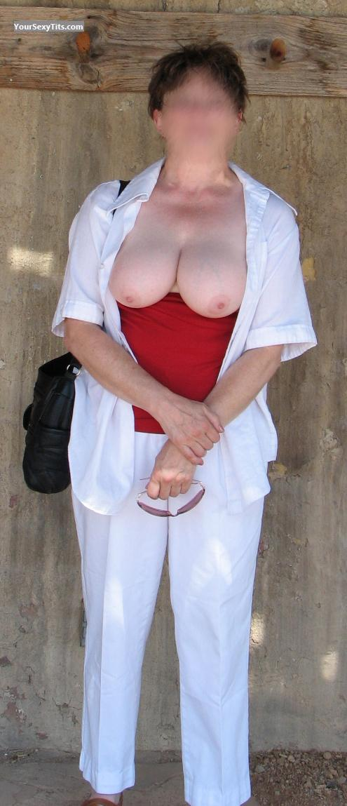 Tit Flash: Big Tits - KB from United States