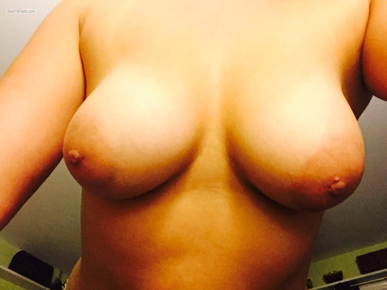 My Big Tits Topless Selfie by Bb