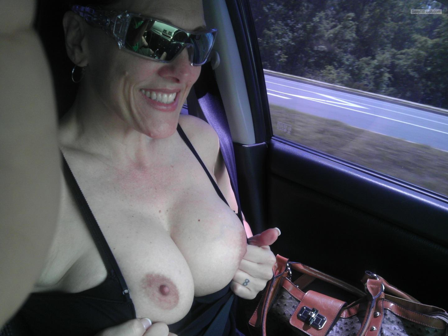 Tit Flash: My Big Tits - Topless Maneboobs from United States