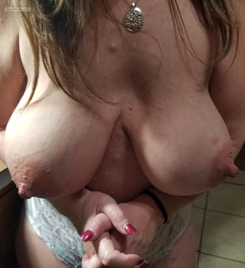 Tit Flash: My Big Tits - Momma D from United States