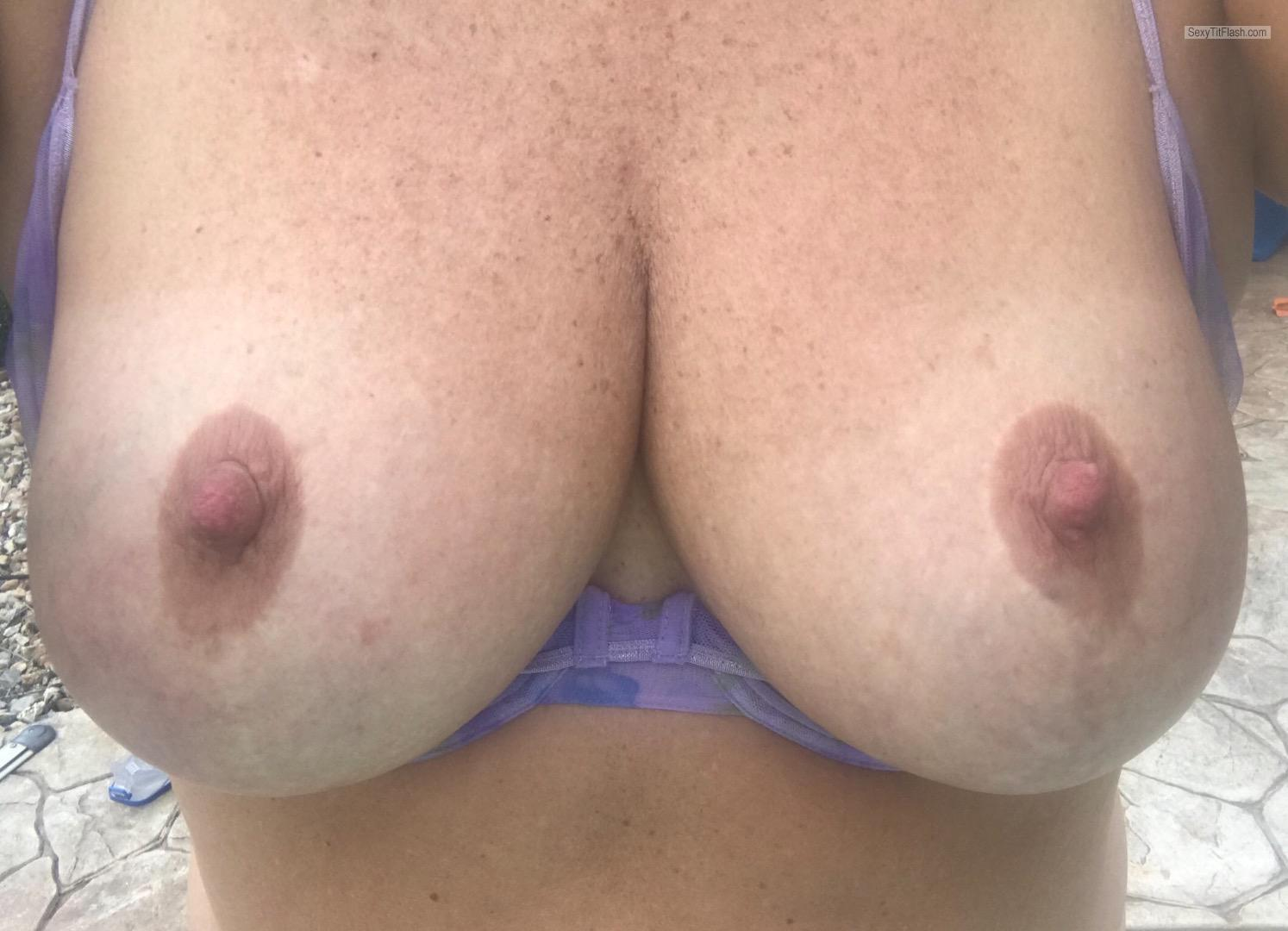 Tit Flash: My Big Tits (Selfie) - Love To Have Them Sucked And from United States
