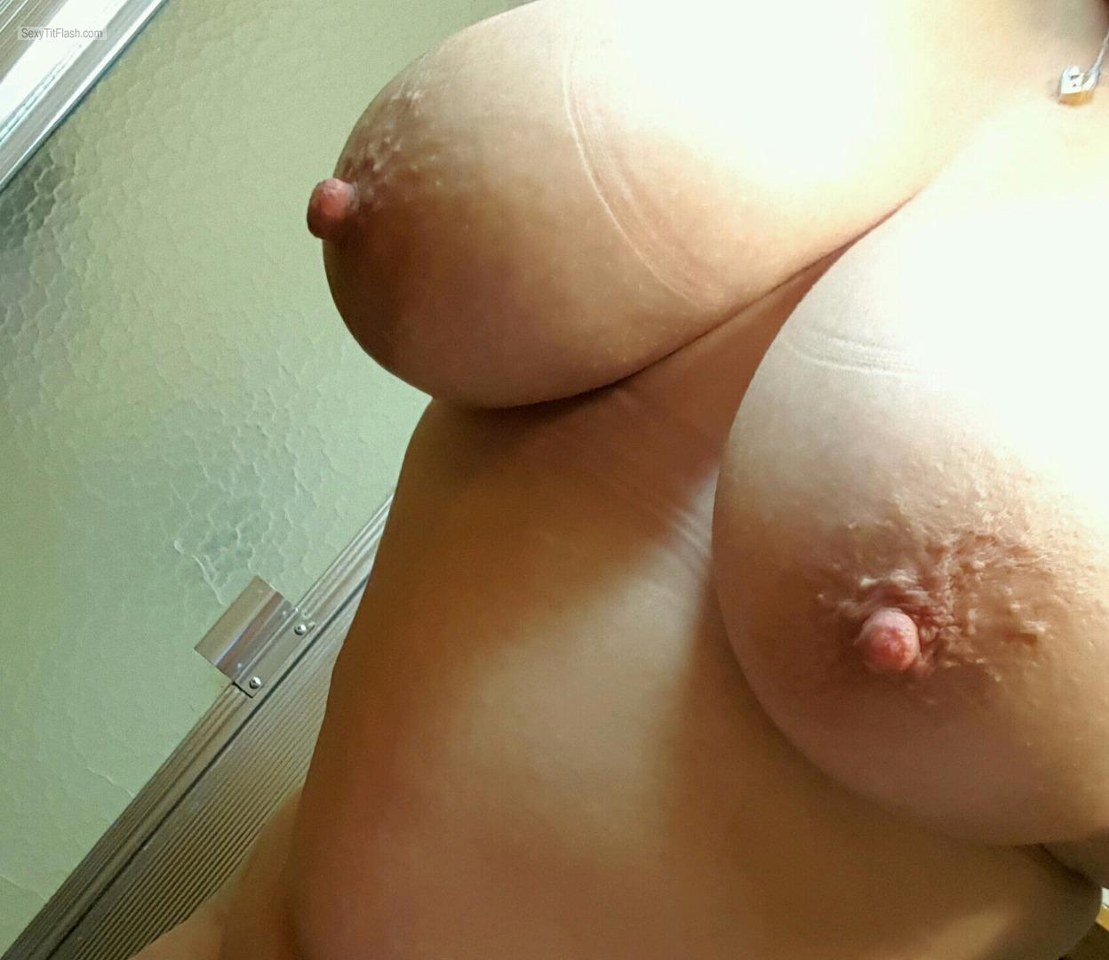 Tit Flash: My Big Tits (Selfie) - MONICA from United States