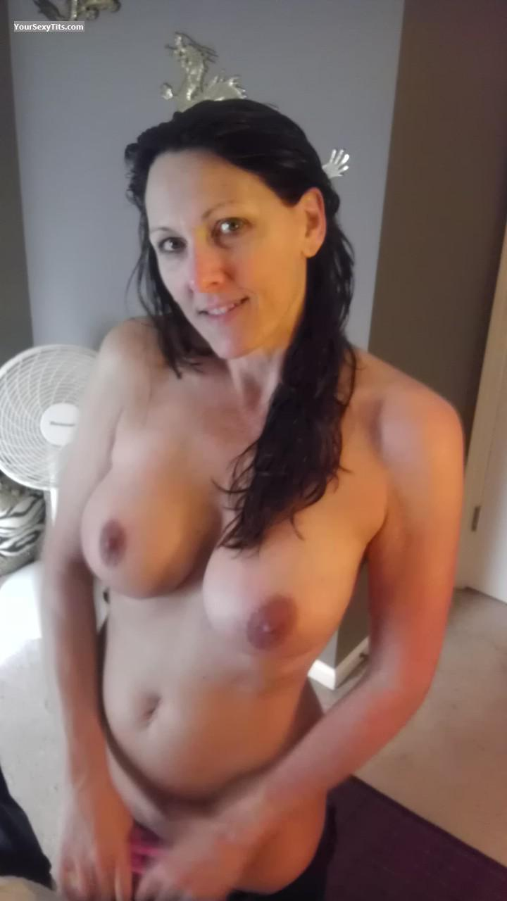 Tit Flash: Wife's Big Tits - Topless JSSJ from United States
