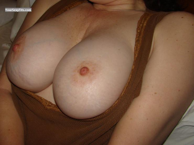 Tit Flash: Wife's Medium Tits - Janie from United States