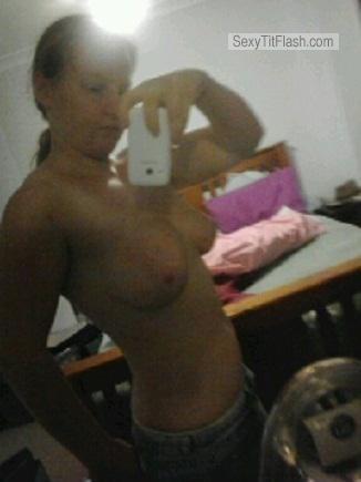 Tit Flash: My Small Tits (Selfie) - Topless Jen from South Africa