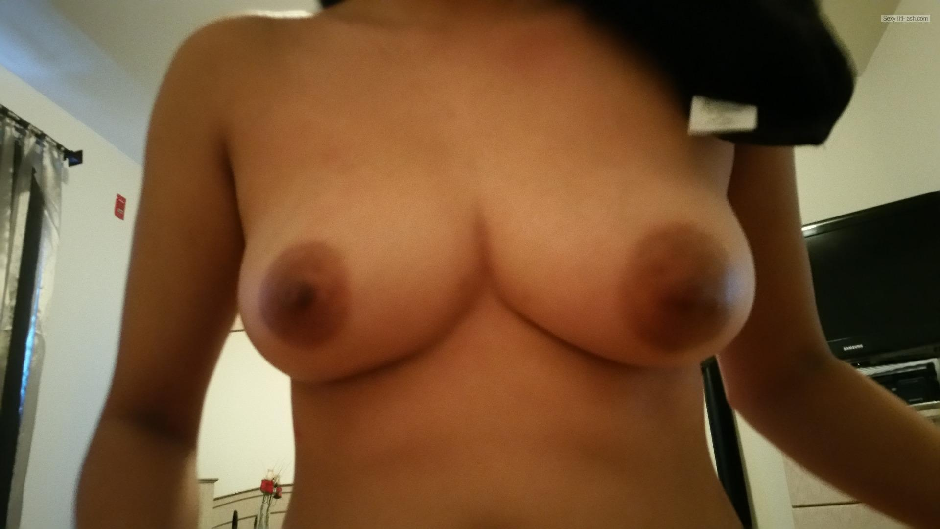 Tit Flash: My Big Tits (Selfie) - Sarah from United States