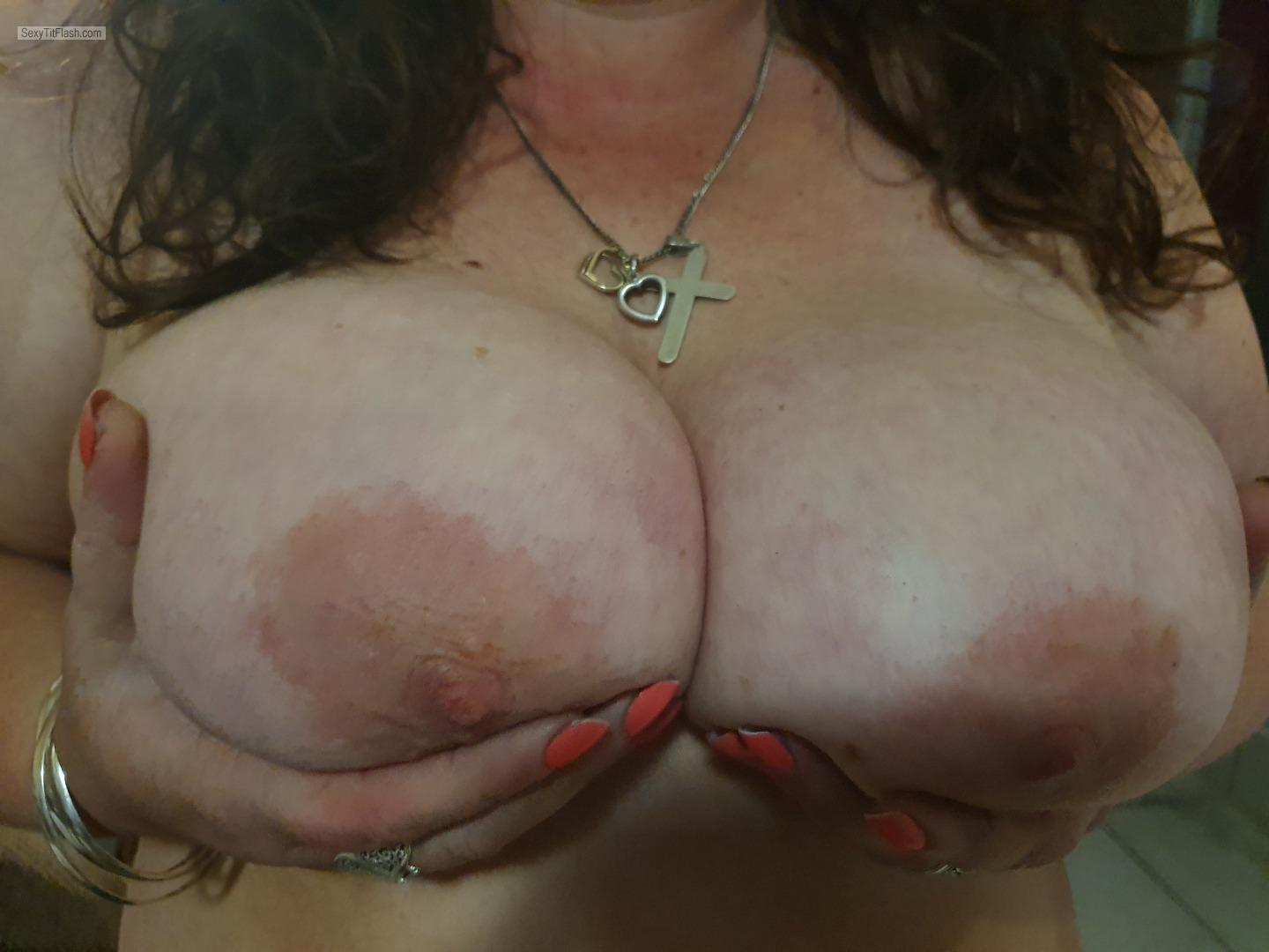 Tit Flash: Wife's Big Tits - What You Think from South Africa