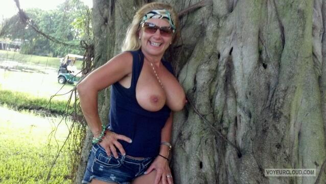Big boobs golfing video samples