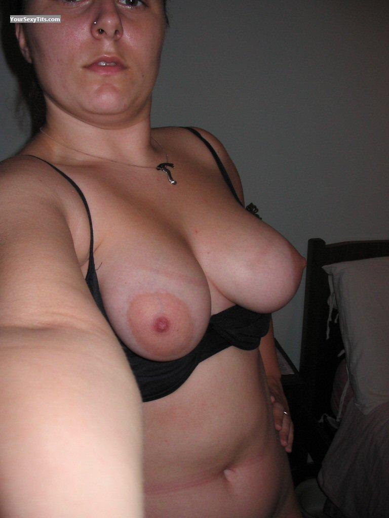 My Big Tits Topless Selfie by Unknown Lady