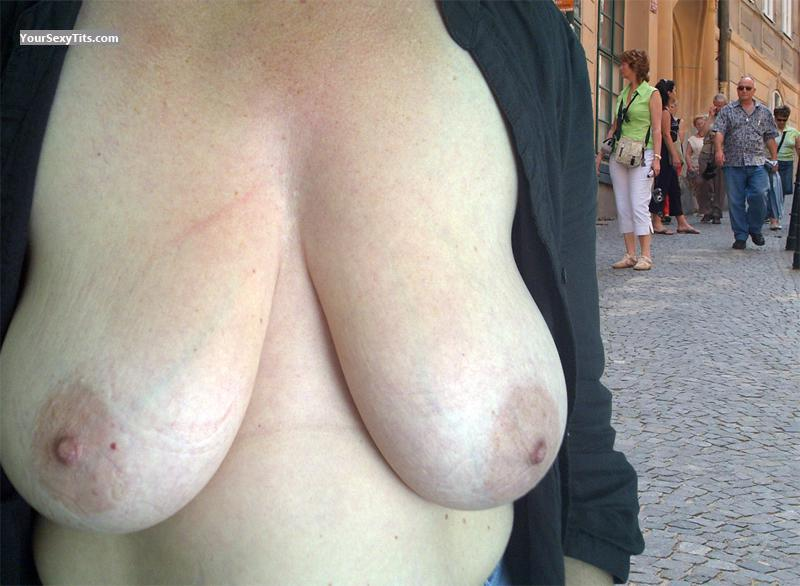 Tit Flash: Big Tits - Esther from Netherlands