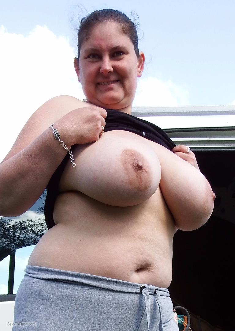 Tit Flash: My Big Tits - Topless Sam from United Kingdom