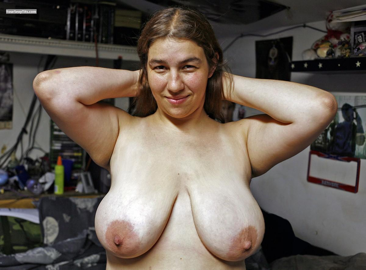 big breast flashing