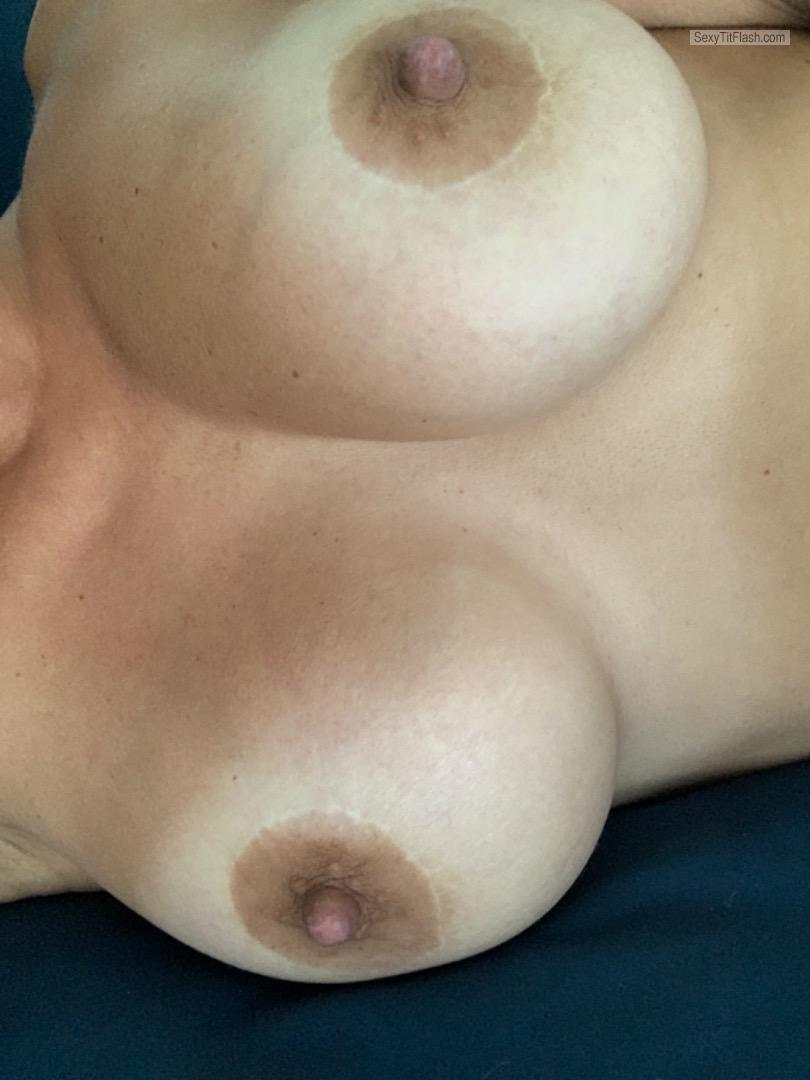 Tit Flash: My Tanlined Big Tits (Selfie) - Sexy from United States