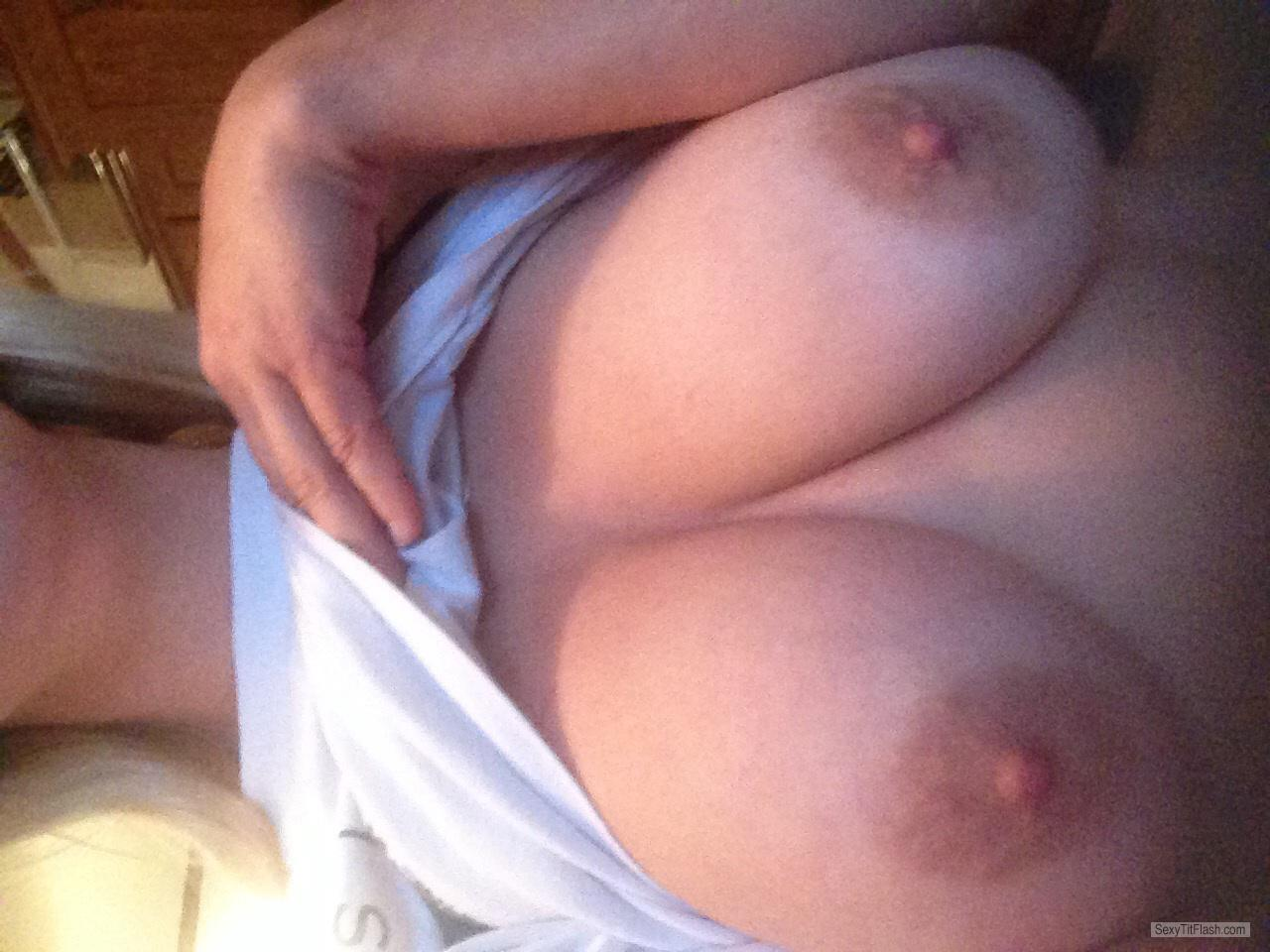 Tit Flash: My Big Tits (Selfie) - Oh from United States