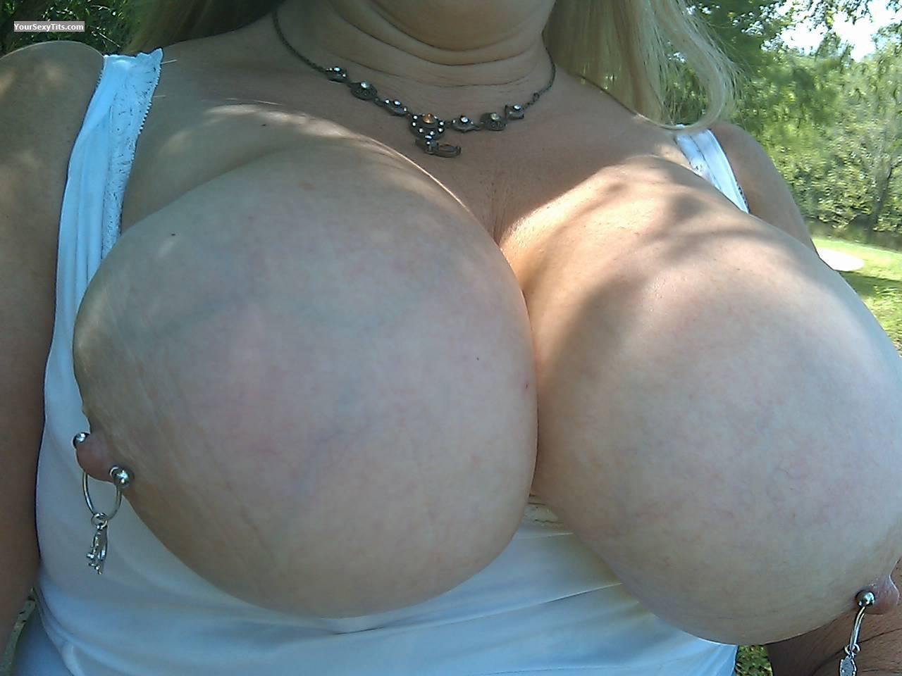 Tit Flash: My Big Tits (Selfie) - PIX from United StatesPierced Nipples