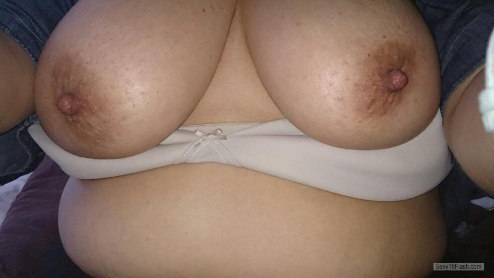 Tit Flash: My Big Tits (Selfie) - First Time Tit Flasher from United Kingdom