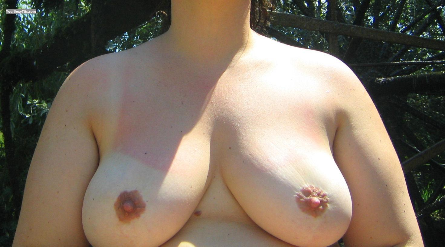 Tit Flash: Big Tits - Juliette from France