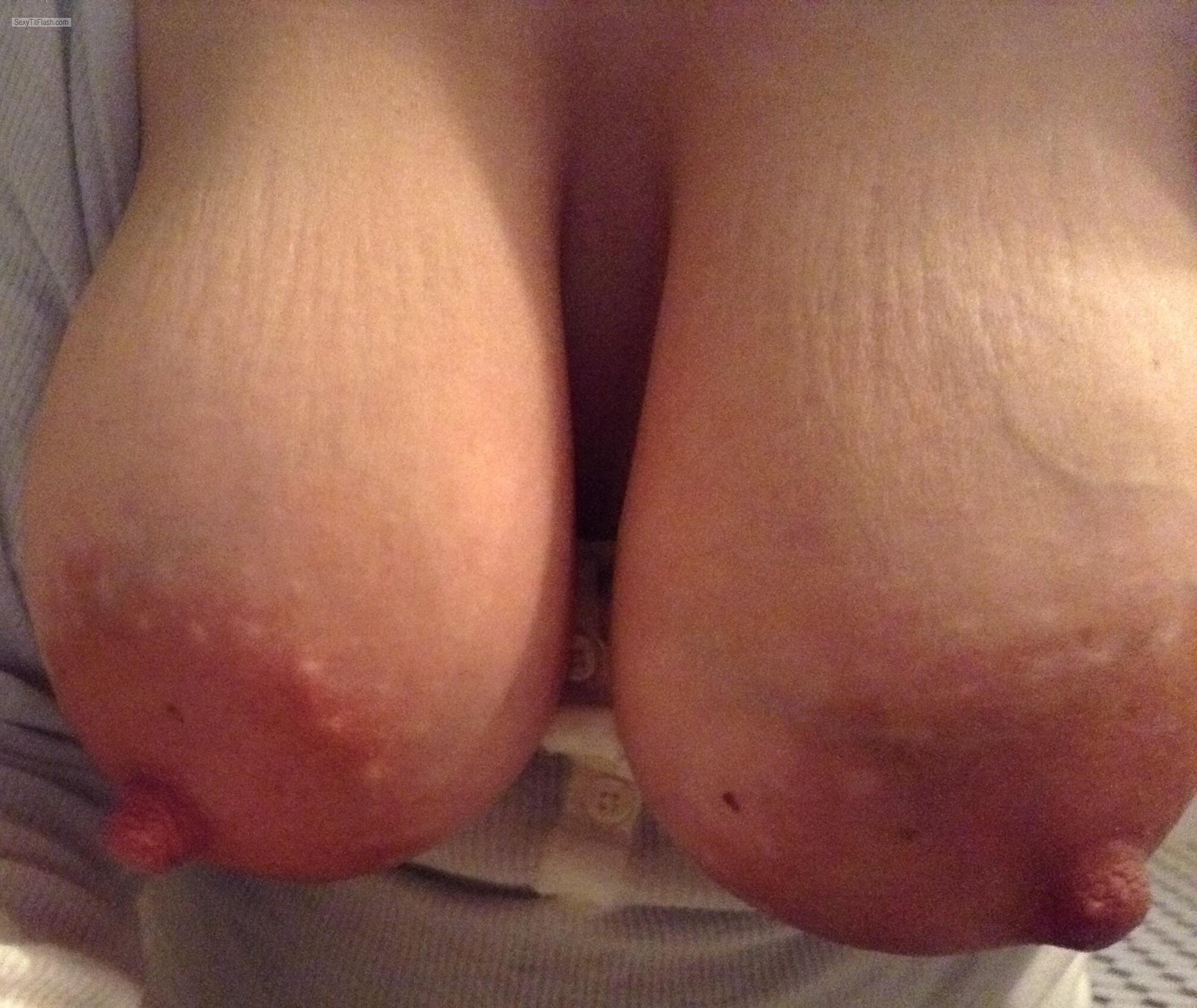 Tit Flash: My Big Tits (Selfie) - Tittymom from United States