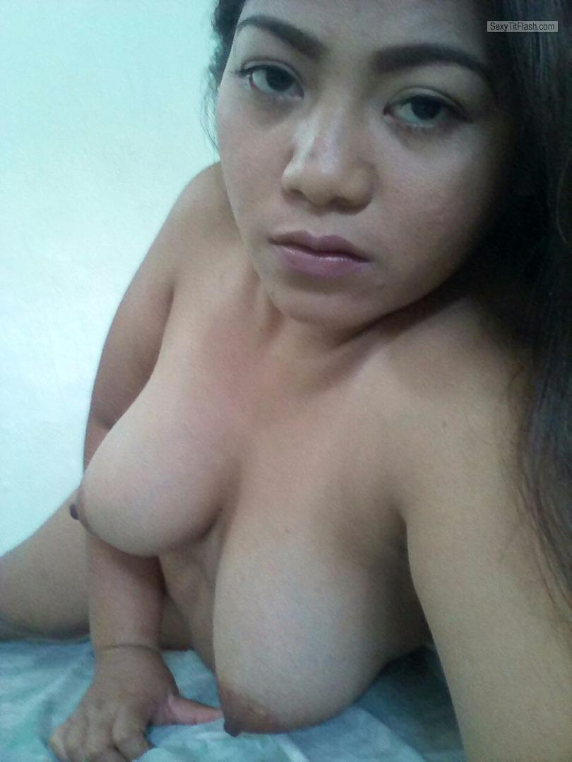 Tit Flash: My Big Tits - Topless Sarah from Philippines